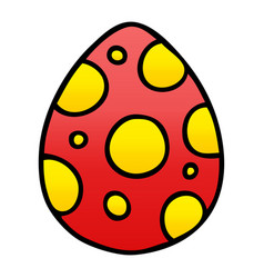 Quirky gradient shaded cartoon easter egg vector