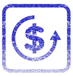 Refund framed textured icon vector
