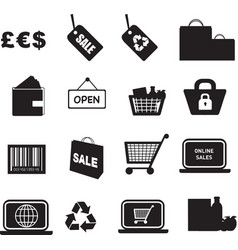 retail icon silhouette vector image vector image