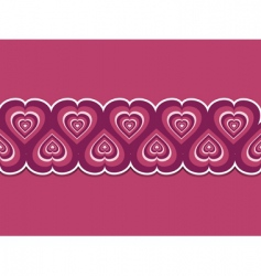 Retro Valentine's hearts vector