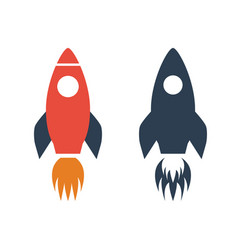 rocket icon on white background vector image