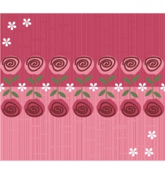rose daisies pattern vector image