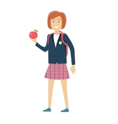 Schoolgirl Isolated Character vector image