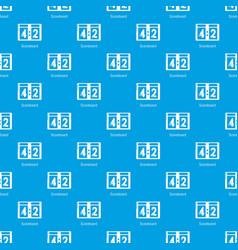 scoreboard pattern seamless blue vector image