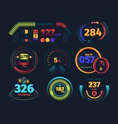 speedometer engine motor odometer car dashboard vector image