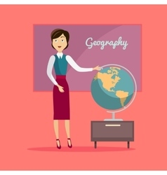 Subject of Geography Education Conceptual Banner vector
