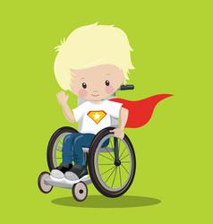 Superhero in a wheelchair white ironman 06 vector