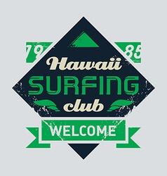 Surfing tee vintage design vector image