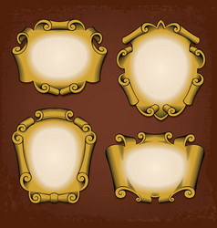 Vintage frames cartouches ribbons vector image