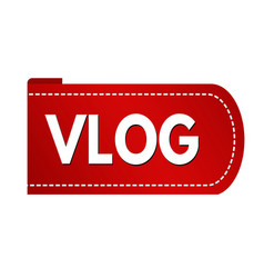 vlog banner design vector image