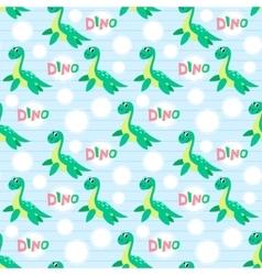 Water dinosaur seamless pattern vector image