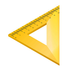 Wood triangle ruler icon isometric style vector