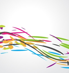 Abstract colorful wave design vector image vector image
