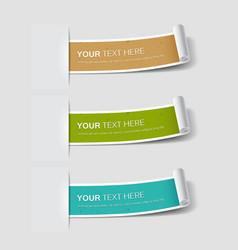 Colorful paper label roll classic retro vector image vector image