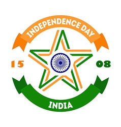 Creative indian independence day concept with star vector
