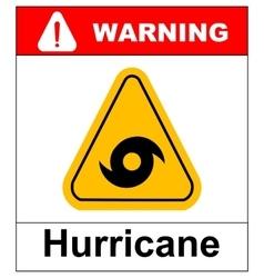 Hurricane warning sign vector