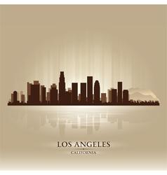 Los Angeles California skyline city silhouette vector image vector image