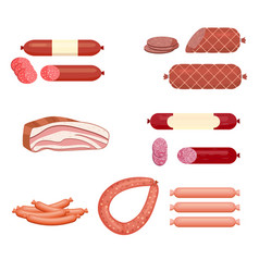 set of sausage vector image vector image