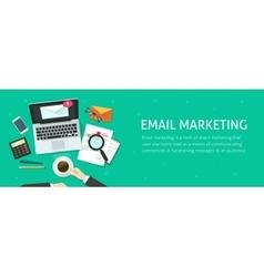 Email marketing banner email analyzing or vector