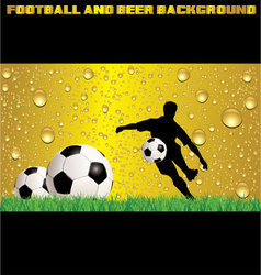 Football and beer background vector image vector image