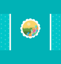 greeting card easter style collection vector image vector image