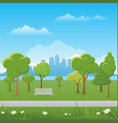 spring landscape background public park vector image vector image