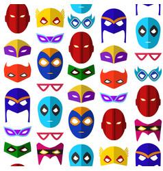 cartoon superhero mask seamless pattern background vector image vector image