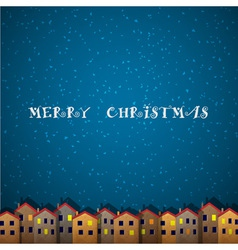 Christmas card with houses vector image vector image