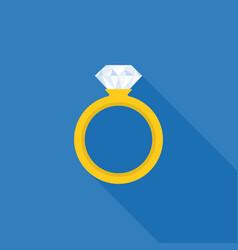 diamond wedding ring icon vector image