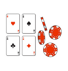 heart spade clubs diamond ace playing cards and vector image
