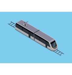 Isometric of a Subway Train vector image