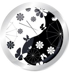 button with jaran parasol vector image vector image