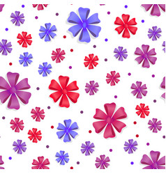 flower bows seamless pattern cute bright bowknots vector image vector image