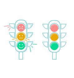 icon traffic light vector image
