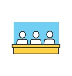 Students in Classroom Icon vector image