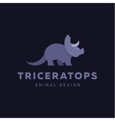Triceratops Animals Design Dinosaur vector image