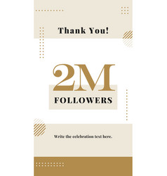 2m followers story post background template vector