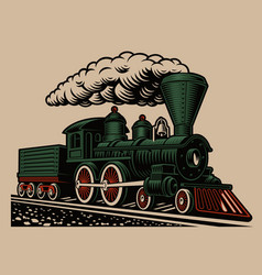 a a retro train vector image