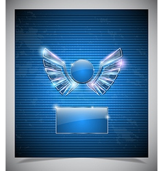 Abstraction blue background with wings vector