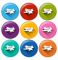 Airplane icons vector image