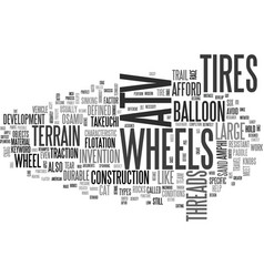 Atv wheels text word cloud concept vector