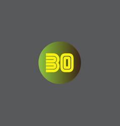 B o joint letter logo design vector