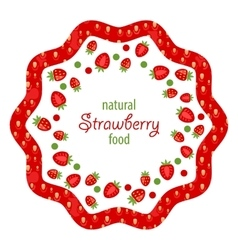Beautiful Frame Made of Strawberry vector image