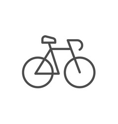 bicycle or bike line outline icon vector image