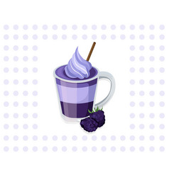 Blackberry smoothie cocktail background vector