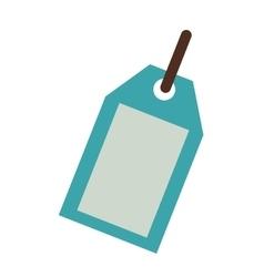 Blue silhouette price tag icon vector