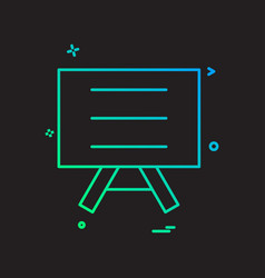 Board school icon design vector