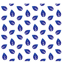 ceramic pattern with leaves vector image