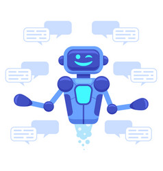 Chat bot support chat bot assistant online vector