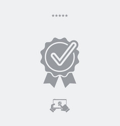 checkmark certificate flat icon vector image